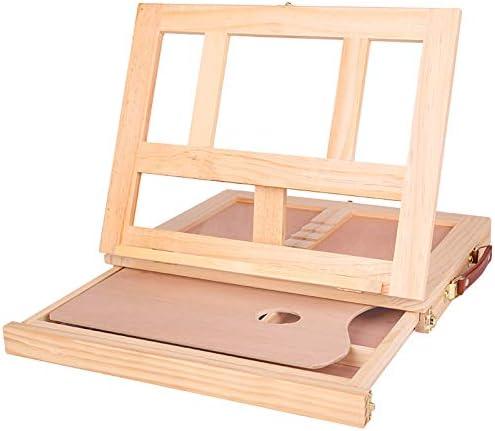 引き出しで絵を描くためのポータブル折りたたみデスクトップ木製イーゼル