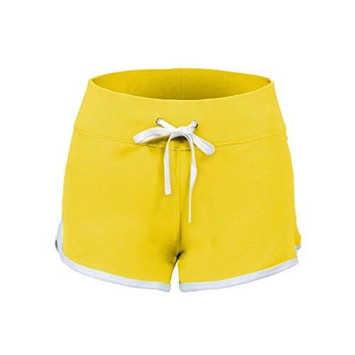 Swiss Well Short Short de sport des shorts coton Yoga d'entrainement danser Minishort Hipster Entraînement de fitness avec léger effet Figurine formenden