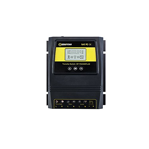 Spartan Power 4500 Watt Transfer Switch by Dual Power Controller Great for Solar & Wind SP-TS4500PLUS can be Used Worldwide