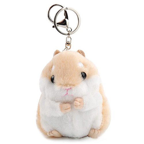 AQUESOUSLY Women's Hamster Plush Key Chain,4.7