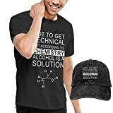 Men's Not to Get Technical But According to Chemistry Short Sleeve Tshirts Size 33 Black (with A Cap)