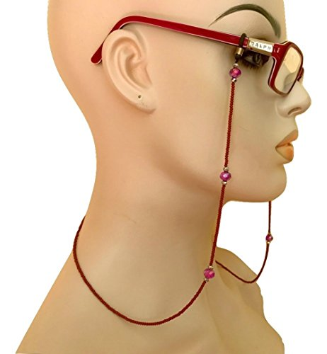 Brown Purple Chain Holder Eyeglass Hand Beaded