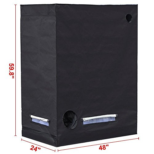 """41l4RY6cuTL - Yaheetech 48""""X24""""X60"""" Reflective Indoor Grow Tent Kit Complete Hydroponic Non Toxic Grow Hut Box"""