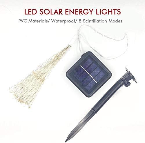 LDTSWES® Buntes Lichterketten-geführtes Solar-Hof-Hochzeits-Garten-Weihnachtsdekor-Feenschnur-Lichterkettenlicht Fernbedienungs-Landschaftslampe