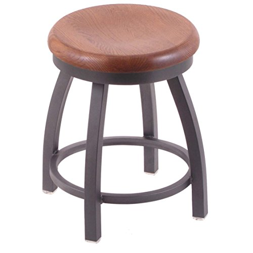 Holland Bar Stool Co. 802 Misha Vanity Stool with Pewter Finish and Swivel Seat, 18