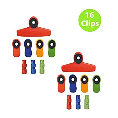 OXO Good Grips 16-piece Clip Set, Red/Blue/Green/Orange