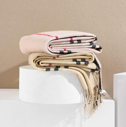 Al Pink Lavaggio Per Qualità 8cm Da Leggero Leggera Nappe Donna Cls 100 pink Rosa In Cachemire Con Sciarpa Classica UpE0w1