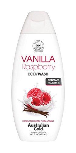 - Australian Gold Body Wash, Gentle & Moisturizing with Nutrient Rich Kakadu Plum & Vitamin E, Vanilla Raspberry, 16.5 Ounce