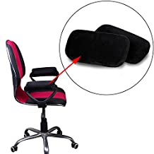 eJiasu Ergonomic Memory Foam Armrest Chair Pad Elbow Pillow Support Arm Rest Cushion Home Office Chair Arm Cover for Elbow and Arm Fatigue Relief (Black-1 pair)