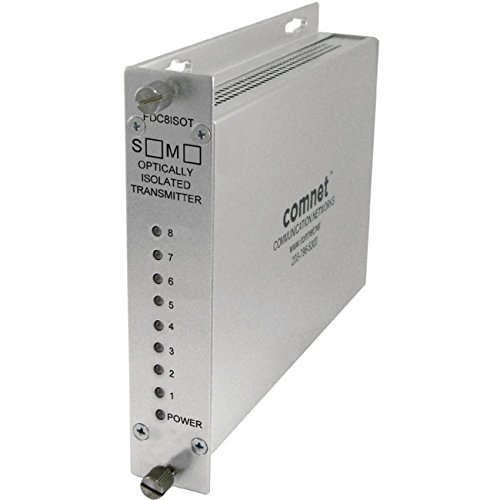 COMNET FDC8ISOTS1 8 Channel Contact Closure Tran smitter, sm, 1 fiber, Isolated