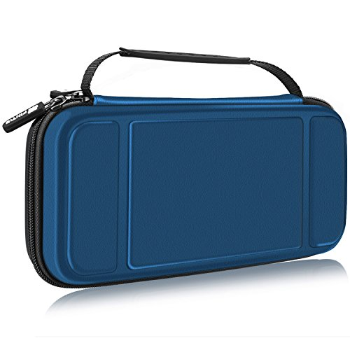 Fintie Carry Case for Nintendo Switch - [Shockproof] Hard Shell Protective Cover Portable Travel Bag w/10 Game Card Slots and Inner Pocket for Nintendo Switch Console Joy-Con & Accessories, Navy from Fintie