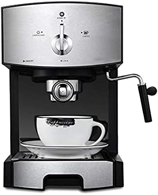YSCCSY 1.25 L Semi-Automática Cafetera Espresso Máquina Eléctrica ...