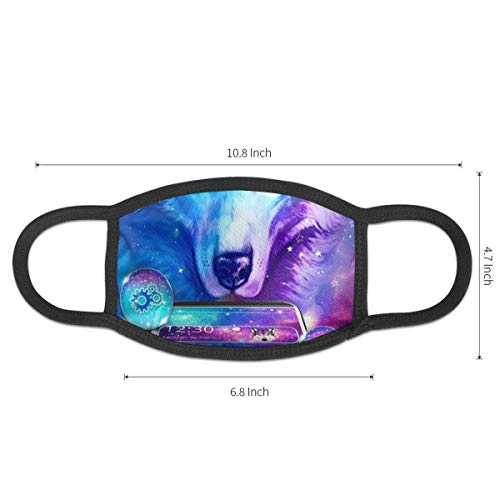 Dean Carnegie Galaxy Wolf Face Mask Adjustable Mouth Mask Anti Dust Face Mouth Mask Reusable Mask for Cycling Camping Travel