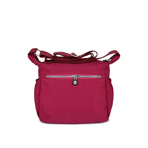 Backpacks Purse Girl Handbag Shoulder Red Purses Theft Messenger Waterproof Bag Strap Anti Bags Lady's BagVEMOW Diagonal Nylon Clutches Women Satchel Vintage Tote Homeless Crossbody Fwq68x