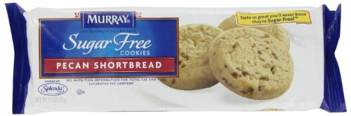 Murray Sugar Free Cookies Pecan Shortbread, 5.5-Ounce Packages (Pack of 12) (Sugar Murray Free Cookies)