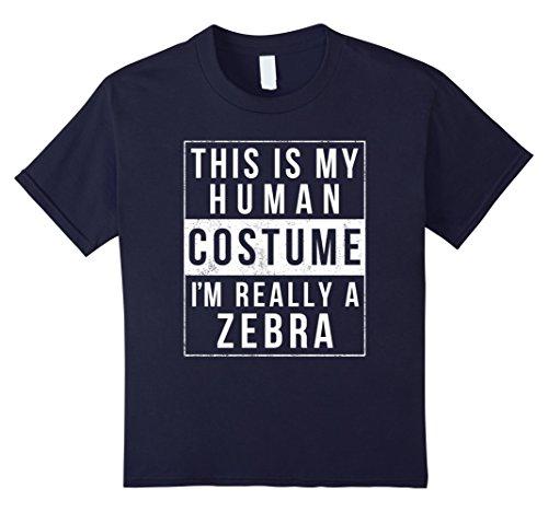 Kids Zebra Halloween Costume Shirt Funny Easy for Kids Men Women 12 (Zebra Costume Diy)