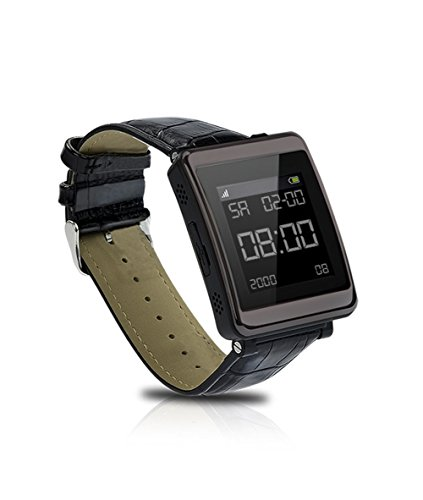 New Arrival GSM & Bluetooth Genuine Leather Wristband P1 Smart Watch Phone MP3 MP4 Touch Screen Camera Smartwatch(Black/Champagne)