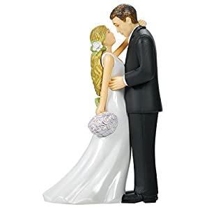 amscan Bride & Groom with Bouquet Cake Topper | Wedding and Engagement Party