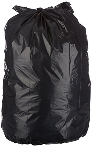 AmazonBasics 23 Gallon Slim Trash Can Liner, 1.6 mil, Black, 250-Count by AmazonBasics (Image #1)