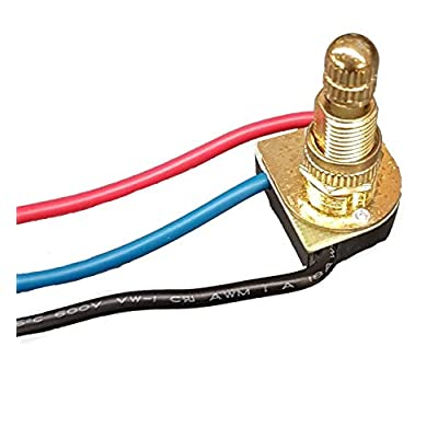 "B&P Lamp 3-Way, 4-Position, 2 Circuit Rotary Switch with Removable knob, 5/8"" Shank: Home Improvement"