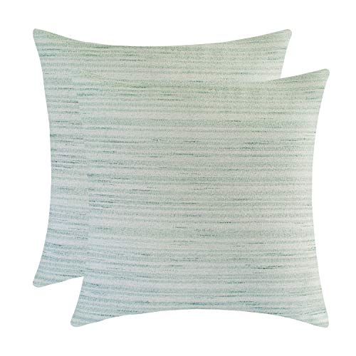 - The White Petals Sage Green Euro Sham Covers for Bed (26x26 inch, Pack of 2)