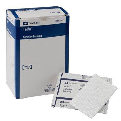 Covidien 7643 Telfa Adhesive Dressing, Sterile 1's in Peel-Back Package, 3'' x 4'' (Pack of 100)