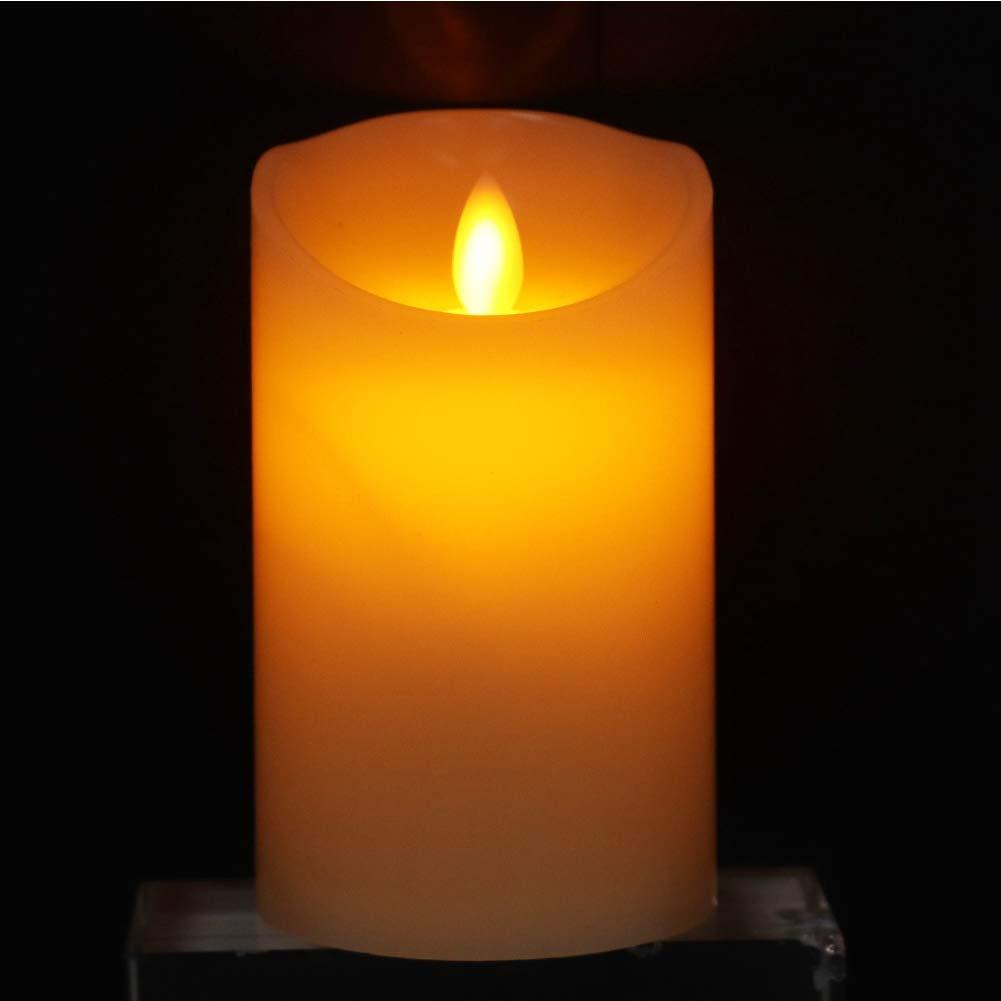 con Pilas Brillante 45 6Paquete de 3 Riuty Vela el/éctrica l/ámpara de Vela Falsa sin Llama Parpadeante Mini LED