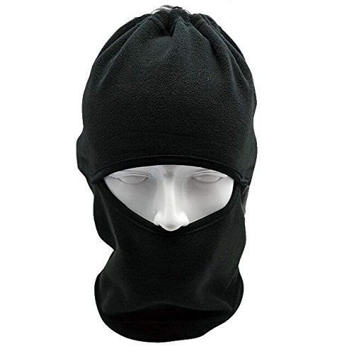 Balaclava Windproof Full Face Mask Neck Warmer Gaiter Black - Unisex Winter Fleece Ski Mask Hood Sports Gear for Outdoor Skiing Cycling Motorcycle Snowboard