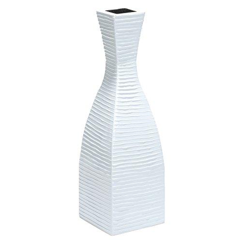 PoliVaz Pure White Tuxedo Vase, 32 In.