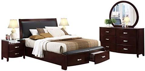 Amazon Com Labeth 5pc Bedroom Set Cal King Storage Bed Dresser