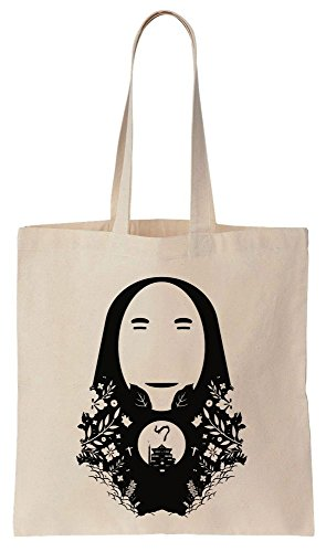 No-Face God And Bathhouse Design Sacchetto di cotone tela di canapa
