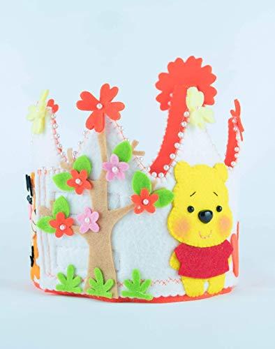 Corona Cumpleaños Fieltro Winnie Pooh: Amazon.es: Handmade