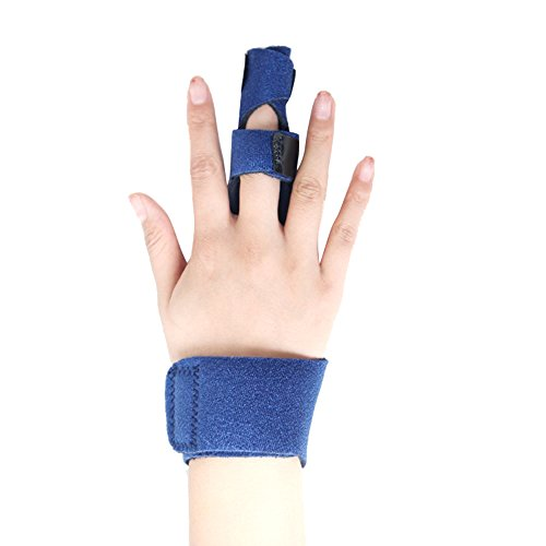 Finger Splint Support Brace,XIIYY Finger Splint Malleable Metallic Hand Splint Pain Relief Finger Support with Finger Phalanx and Metacarpal Fixation Belt by XIIYY