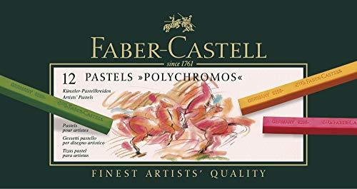Faber Castell Set of 12 Polychromos Artists Pastels.