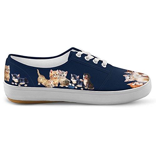 Jurgen Scholz Kitty-kat Mignon Toile Femmes Chaussures Dart Chat Par Le Bradford Échange Multicolore