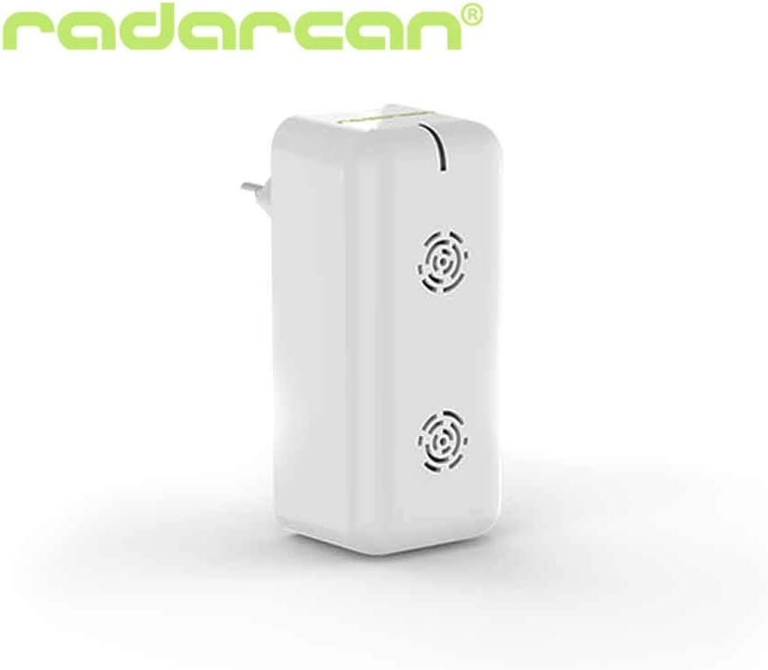 RADARCAN ULTRASONIC PEST REPELLER – Electronic indoor Plug in Advanced Pest Repellent system: Ultrasound & Electromagnetism technologies. Pest control for Home, Office, Warehouse & Hotel. US PLUG!