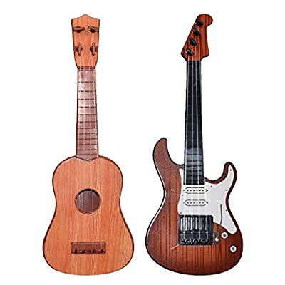Mini Ukulele Toy for Kids, FunDiscount Wooden 4 Strings Guitar Children Musical Instruments Educational Toys Portable Interactive Music Toy for Beginnger Starter Girls and Boys (12 Inch)