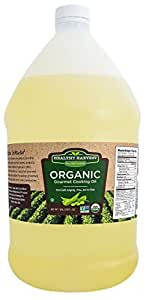 Healthy Harvest Certified Organic Gourmet Soybean Cooking Oil - Healthy Cooking Oil for Cooking, Baking, Frying & More - Naturally Processed to Retain Natural Antioxidants {One Gallon - 128 oz.}