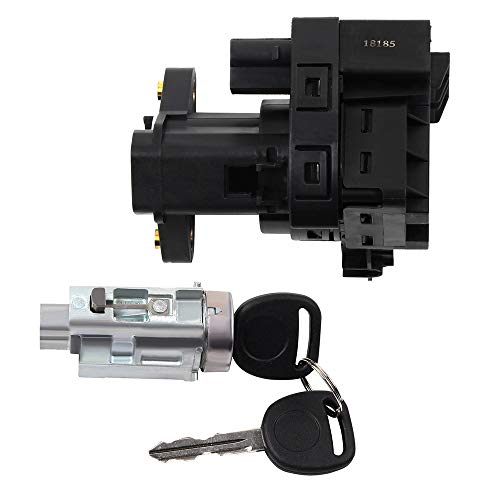 cciyu Ignition Lock Cylinder and Starter Switch Replacement Fits for 1997-2005 Chevrolet Oldsmobile Pontiac ()