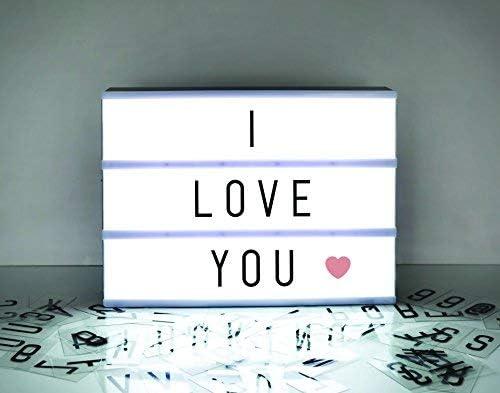 Amazon.com: Letrero de caja de luz de cine A4 – 105 letras y ...