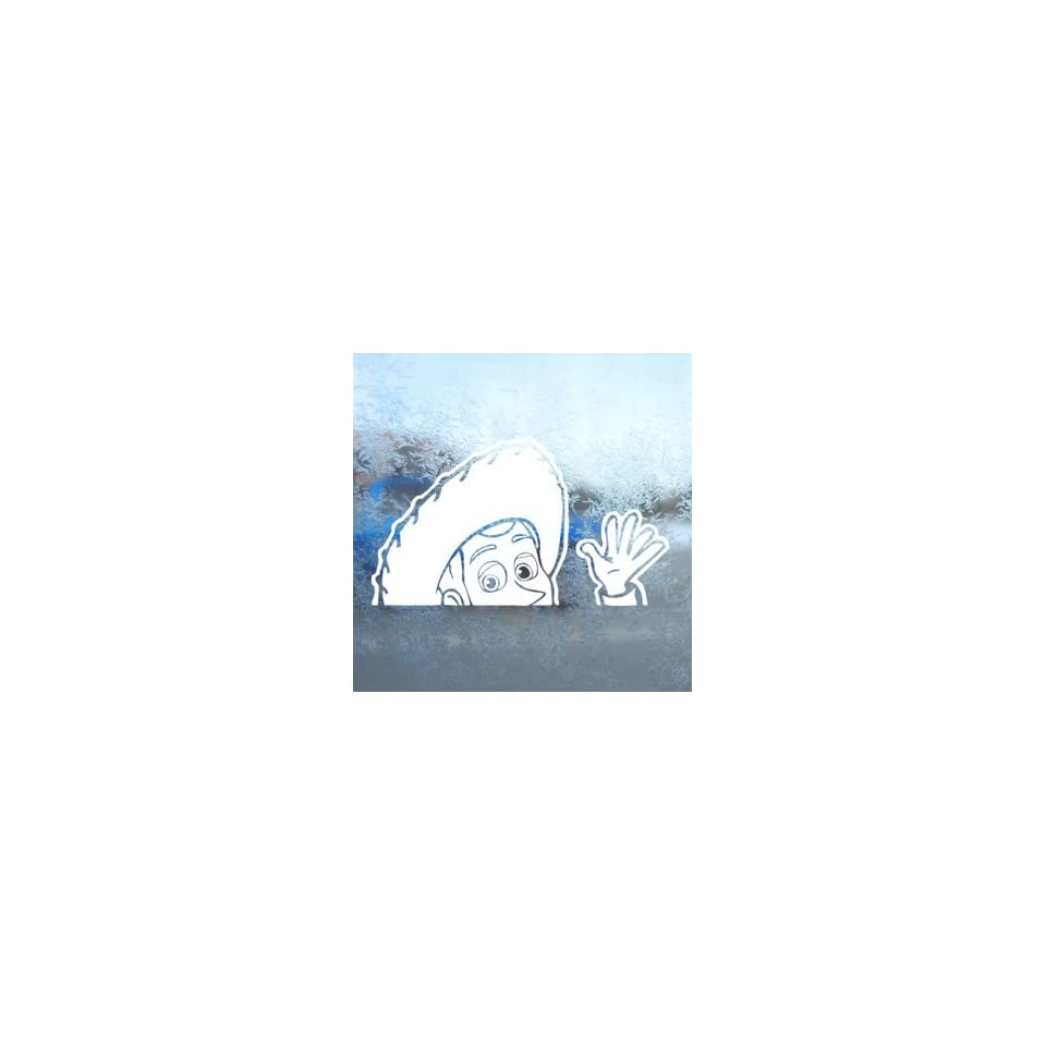 WOODY TOY STORY White Decal Car Laptop Window Vinyl White Sticker
