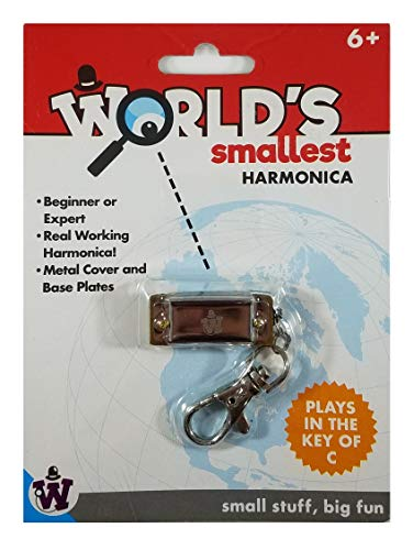 World's Smallest Harmonica | Harmonica Miniatura 100% Funcional | toca en la Nota'C' | Harmonica de Metal Para Principiantes...