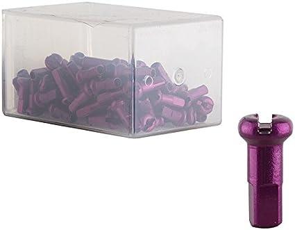 NEW DT Swiss 2.0 x 12mm Purple Alloy Nipples Box of 100