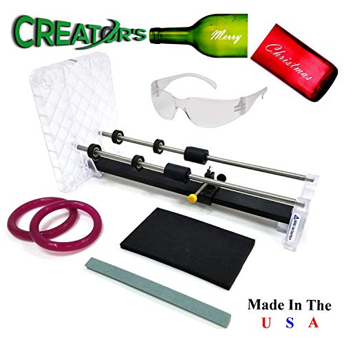 Creator's Glass Bottle Cutter Bundle - DIY Professional Series - Trusted, Reliable, Loved - Cuts Glass Wine/Beer/Liquor Bottles - Consumer's Choice Number One Best - Precision Made in The USA