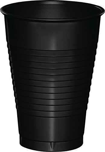 Creative Converting Premium Plastic 12-Ounce Cups, Black Velvet Color, Package Of - Cup Black