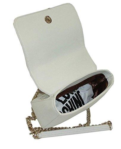 Borsa Love Moschino mini SHOULDER BAG JC4227 woman nappa pu embossed bianco