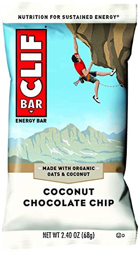 Clif Bar Coconut Chocolate Chip, 12 – 2.4 oz (68 g) bar