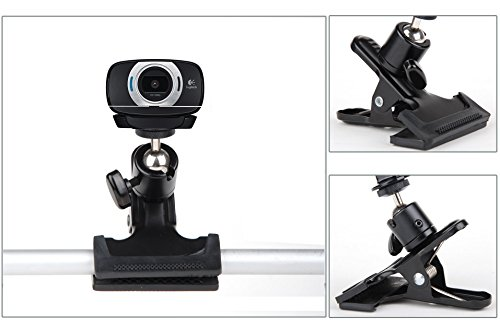 Desk Pipe Handlebar Rotating Clip Clamp Mount Holder Stand for Logitech Webcam C922x C922 C930e C930 C920 C615