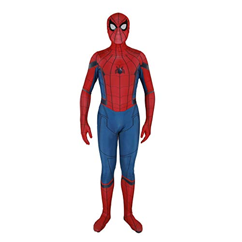 Unisex Lycra Spandex Zentai Halloween Cosplay Costumes Adult/Kids 3D Style (Kids-S, red -