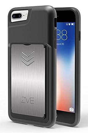 new product 51ce4 41d69 ZVE iPhone 8 Plus / 7 Plus Wallet Case, iPhone 8 Plus / 7 Plus Card ...